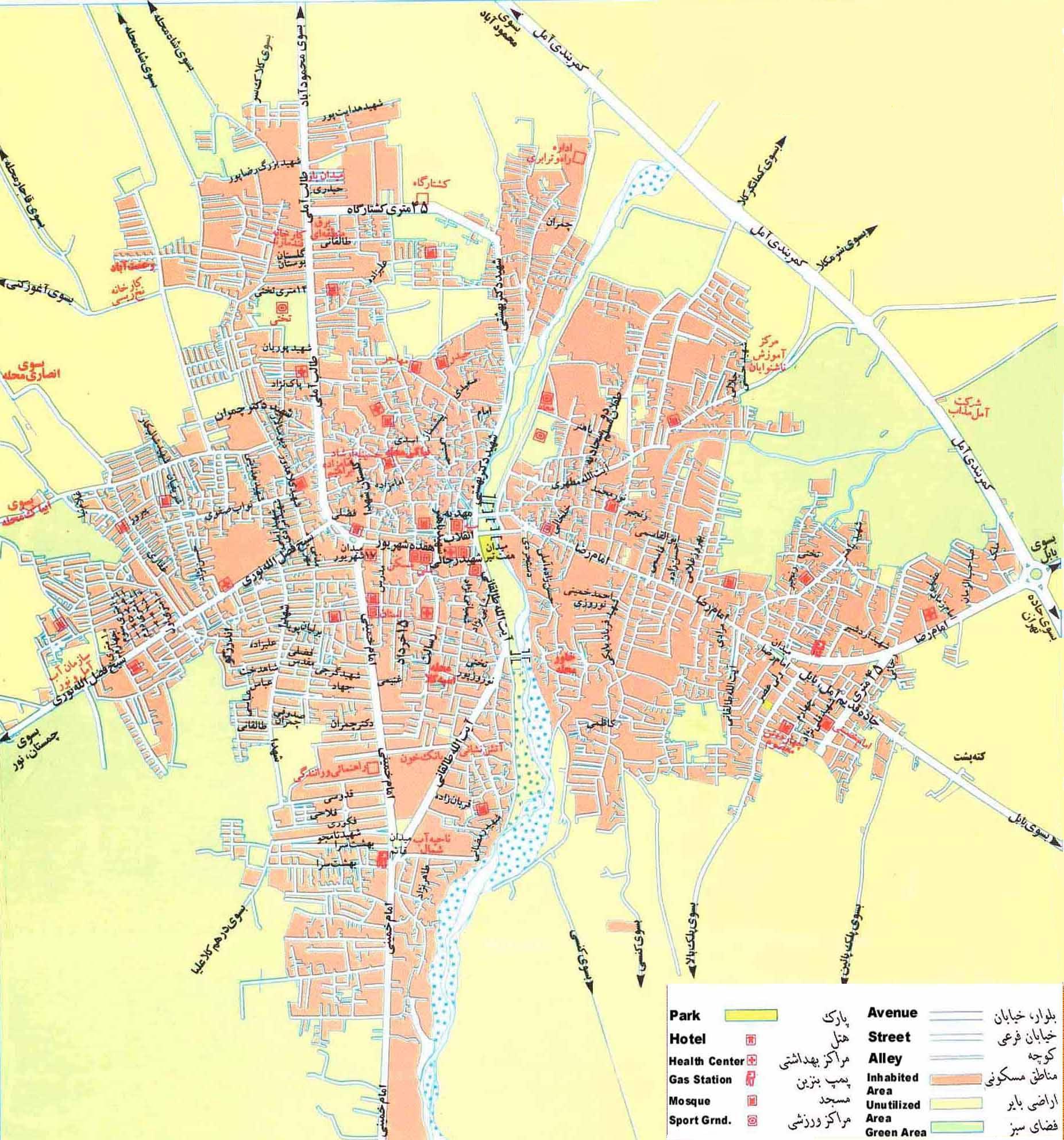 نقشه آمل amol